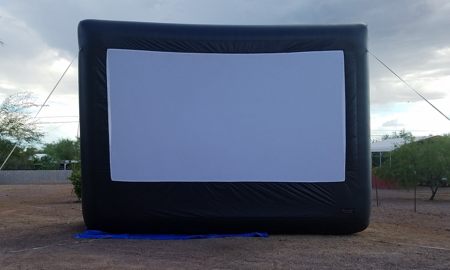 Outdoor Inflatable Movie Screen Rental Front View