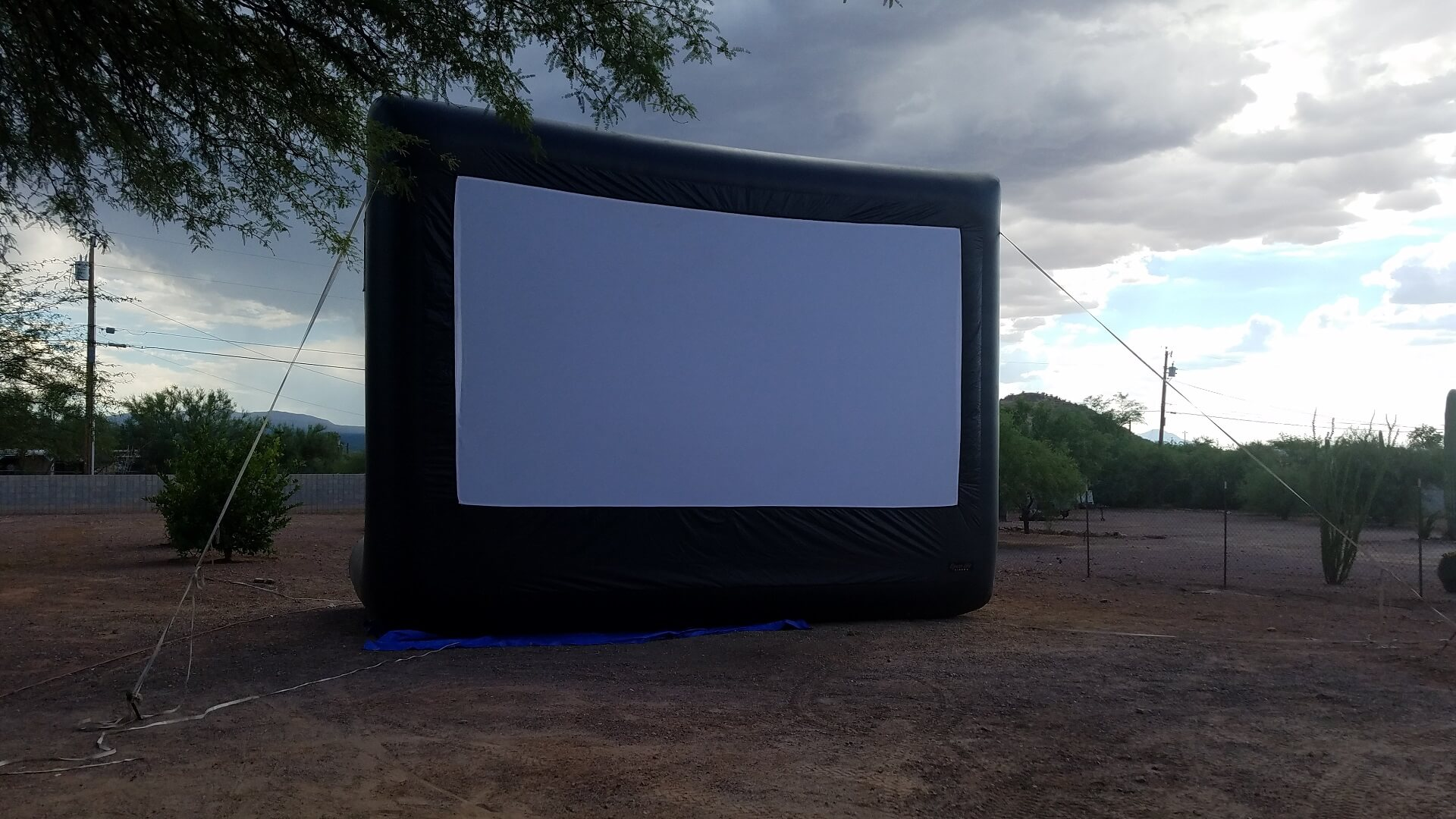Outdoor Inflatable Movie Screen Rental Side View